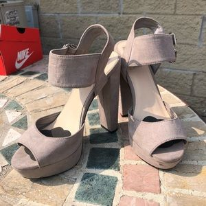 Forever 21 Gray Heels Size 6.5